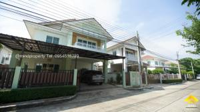 For SaleHouseRama5, Ratchapruek, Bangkruai : Urgent sale, 2-storey detached house, Perfect Place Village, Ratchaphruek, near MRT Bang Rak Noi Tha It, Chaiyapruek, Rattanathibet, Nonthaburi.