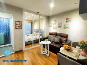 For RentCondoOnnut, Udomsuk : 🏫 👉 Regent HOME Sukhumvit 81 Condo for rent, pool view, beautifully decorated room, wallpaper.