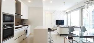 For RentCondoWitthayu,Ploenchit  ,Langsuan : Luxury Condo Q Langsuan @BTS Chit Lom, 106.31 sq.m 2 Beds 2 Baths 25th floor Nice View, Fully furnished