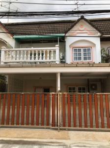 For RentTownhouseOnnut, Udomsuk : 2 storey townhouse for rent, 28 sq m., 4 bedrooms, 2 bathrooms, located in Udom Suk 51, Sukhumvit 103 Road, convenient near BTS Udomsuk, Central Bangna Rent 20,000 / month