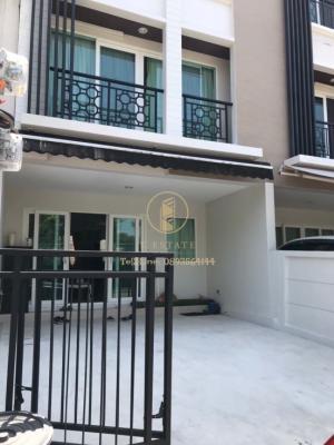 For RentTownhousePattanakan, Srinakarin : 🗣 Rent for 🔸 Baan Klang Muang Rama 9-Krungthep Kreetha 🔸 3-storey townhome ready to move in, special price‼ ️