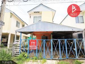 For SaleHousePattaya, Bangsaen, Chonburi : Urgent sale, 2-storey detached house, generosity, Phan Thong, Chonburi, near Amata Industrial Estate.