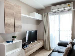 For RentCondoRatchadapisek, Huaikwang, Suttisan : Condo Fuse MiTi Sutthisan-Ratchada @MRT Sutthisan 49.33 sq.m 2 Beds 2 Baths 16th floor Nice View, Fully furnished