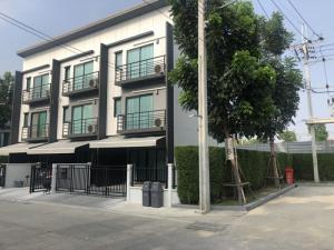 For RentTownhouseRama5, Ratchapruek, Bangkruai : Townhome for rent, Baan Klang Muang Village Ratchaphruek-Rattanathibet, 37 sq m. 3 bedrooms, 3 bathrooms, 3 floors, only 24000 baht.