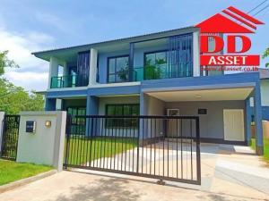 For SaleHouseSamrong, Samut Prakan : For Sale - For Rent Single House Burasiri Wongwaen-On Nut Burasiri Wongwaen-Onnut Corner room near Mega Bangna, Bangna Ring Road, Kanchanaphisek