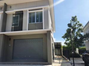 For RentShophouseRathburana, Suksawat : For rent commercial buildings Pruksa Ville Pracha Uthit - Suksawat 78, excellent location, air-conditioning, glass door, inexpensive room divider.