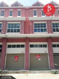 For SaleShophouseSamrong, Samut Prakan : Commercial building for sale Library Town Phra Samut Chedi, Samut Prakan
