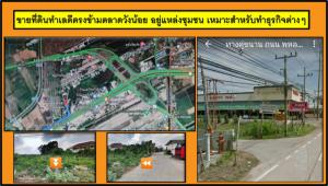 For SaleLandAyutthaya : Land for sale in good location opposite Wang Noi market. In the community Suitable for business