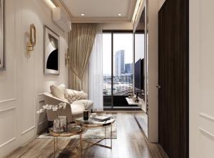 For SaleCondoOnnut, Udomsuk : Condo for sale, Ideo Mobi Sukhumvit 66, beautiful room, tightly built.