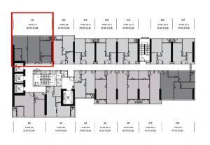 Sale DownCondoSukhumvit, Asoke, Thonglor : Sale down payment CLOUD RESIDENCES SKV23 / 60.50 SQ.M FLOOR.18 2 bedrooms 2 bathrooms near MRT Sukhumvit.