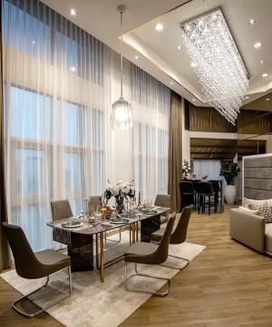 เช่าคอนโดพระราม 9 เพชรบุรีตัดใหม่ : 🔥Super luxury design 🔥 Belle Grand Rama 9 2Bed 2bath 110sqm. Duplex room 095-249-7892