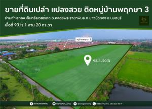 For SaleLandBangbuathong, Sainoi : Selling a large plot of land, very cheap, only 6,247 baht per square meter, next to Pruksa 3 village, Bang Bua Thong District, Nonthaburi Province