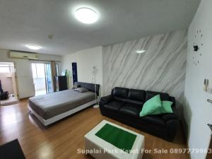 For SaleCondoKasetsart, Ratchayothin : Sale Supalai Park Kaset Intersection 35 sq m. Very beautiful room, open view, quiet, fully furnished, close to the main road, 400 meters from BTS Kasetsart University and Kasetsart University.