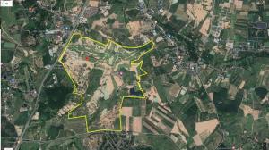 For SaleLandPattaya, Bangsaen, Chonburi : Land (EEC), road width 406 meters long, 1,059 rai 3 ngan 81 square wa (on the EEC special economic zone)