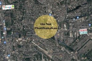 For SaleLandOnnut, Udomsuk : Land for sale, corner plot, next to On Nut Road
