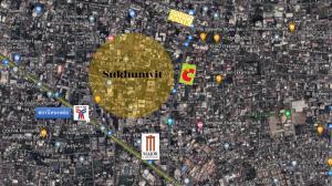 For SaleLandSukhumvit, Asoke, Thonglor : Land for sale in the middle of the city, Sukhumvit Road, near BTS Ekkamai station 300 m.