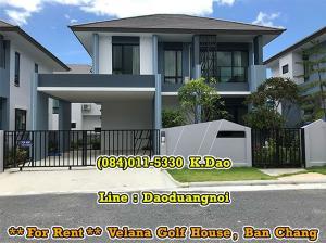 เช่าบ้านระยอง : 2-Storey House Velana Golf House Ban Chang For Rent 28,000 Baht/Month