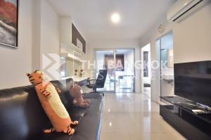 For RentCondoRama9, RCA, Petchaburi : Aspire Rama9 for rent, 16K corner room, fully furnished. ♥
