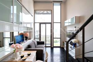 For RentCondoSukhumvit, Asoke, Thonglor : 🔥 Hot !! For Rent Ideo Morph 38 (Duplex) Near BTS Thonglor, 33 sqm., 9th floor, *Pet friendly* and Ready to move in