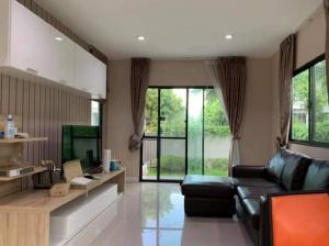 For RentHouseRama9, RCA, Petchaburi : House for rent Baan Klang Muang Edition Rama 9 On Nut near Airport Link Ban Thap Chang Station
