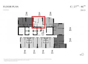 Sale DownCondoSukhumvit, Asoke, Thonglor : Park Thonglor C4301 Duo Space room, 2 floors, direction of the square, VIP price is cheaper than the current price of more than 1 million baht