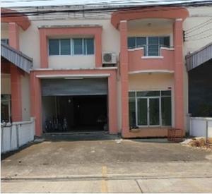 For RentShophouseSamrong, Samut Prakan : RPJ179 for rent, 2-storey commercial building, suitable for office and Keep product stock Nai Khlong Bang Pla Kot Subdistrict Phra Samut Chedi District