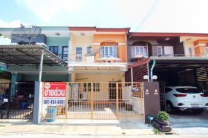 For SaleTownhouseRangsit, Patumtani : 2 storey townhouse for sale, 22.5 sq m., Sathaporn Village, Rangsit-Nakhon Nayok, Khlong 4, Pathum Thani, near the park, good location