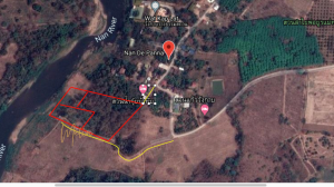 For SaleLandNan : Land for sale in a beautiful plot, Nan Province, next to the Nan River Close to the hotel nan de punna with wagabraang, selling 22 million.