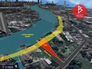 For SaleLandRathburana, Suksawat : Land for sale 5 rai 66 square wa, next to the Chao Phraya River. Bangkok