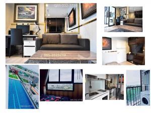 For RentCondoRattanathibet, Sanambinna : Condo for rent/sale, Skyline Rattanathibet, modern decoration, 30.40 sq.m., 1 bedroom, 1 bathroom, 8th floor, pool view, near MRT opposite Central Rattanathibet
