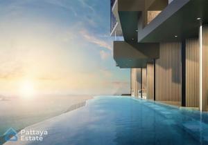 For SaleCondoPattaya, Bangsaen, Chonburi : Condo unit for sale, Arom Wong Amat project, sea view and sandy beach