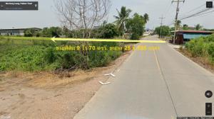 ขายที่ดินรังสิต ธรรมศาสตร์ ปทุม : ขายถูก ที่ดินถนน เลียบคลองบางหลวงไหว้พระ ม.11 ใกล้ถนนวงแหวนรอบนอก กว้าง 25 เมตร ยาว 585 เมตร จำนวน 9 ไร่  70 ตรว. ขายไร่ละ 3.6 ล้าน