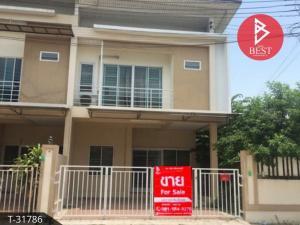 For SaleTownhousePattaya, Bangsaen, Chonburi : Townhouse for sale, P Village, Nong Chak, Ban Bueng, Chonburi.