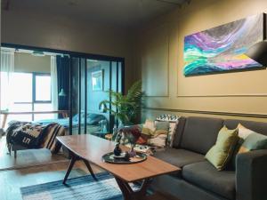For RentCondoRama9, RCA, Petchaburi : For Rent Aspire Rama 9 City view / fully furnished / beautiful kitchen