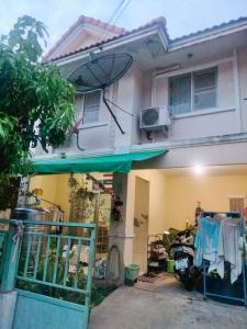 For SaleTownhouseBangbuathong, Sainoi : 2 storey townhouse for sale, Baan Pruksa 38, free of charge, transfer day, near Big C Sai Noi