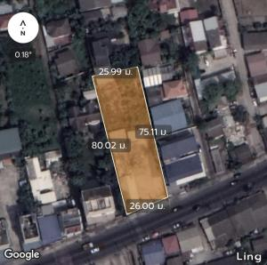 For SaleLandNawamin, Ramindra : Land on the road 500 sq.wa., width 26 m., last plot on Permsin Rd.