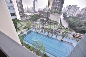 For SaleCondoRama9, RCA, Petchaburi : Q Asoke, East view, pool view, sell 7.85 million. ♥