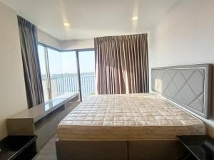 For SaleCondoRattanathibet, Sanambinna : Condo for sale, The Politan Breeze 61.29 sqm. Building A, 6th floor, river view corner room.
