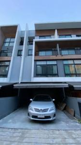 For RentTownhouseLadprao 48, Chokchai 4, Ladprao 71 : HR766 3.5-storey townhome for rent, Arden Ladprao 71, ready to move in