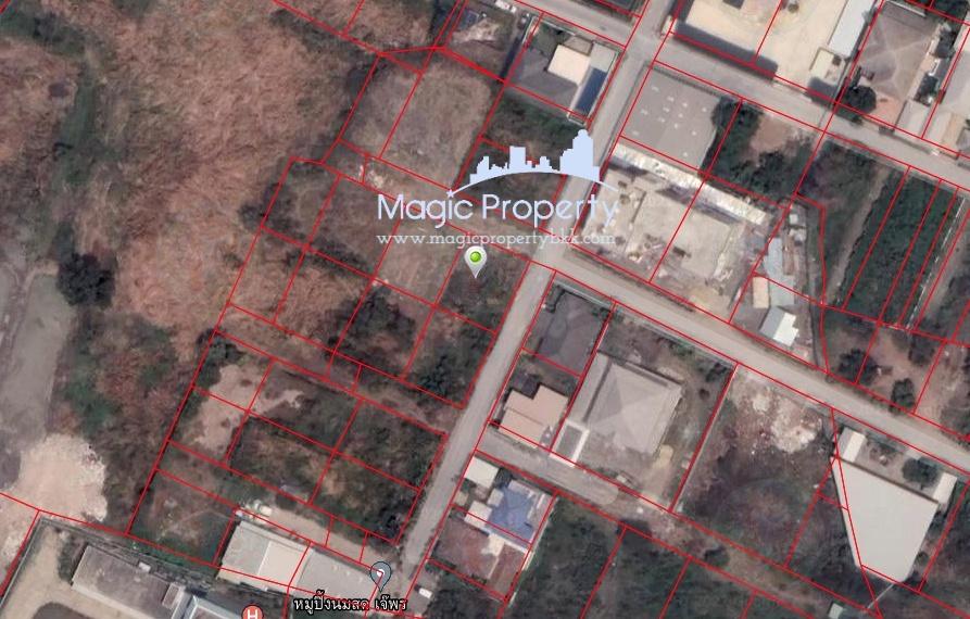 For SaleLandChaengwatana, Muangthong : Land for sale in a corner plot of 100 square wah in Ban Mai Subdistrict, Ban Mai Subdistrict, Pak Kret District, Nonthaburi