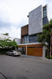 For SaleHouseKaset Nawamin,Ladplakao : Luxury single house for sale, The Primary V project, Kaset-Nawamin, 4 floors, with elevator, swimming pool, fully furnished, corner house, beautiful view.