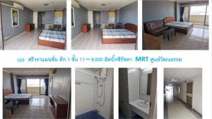 เช่าคอนโดรัชดา ห้วยขวาง : ให้เช่า ศรีวราแมนชั่น ตึก 1 MRT ศูนย์วัฒนธรรม 400 เมตร