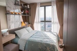 For RentCondoBangna, Lasalle, Bearing : SR1-FF23, Ideo O2 Condo Bangna, beautiful room, beautiful view, see the Chao Phraya River.