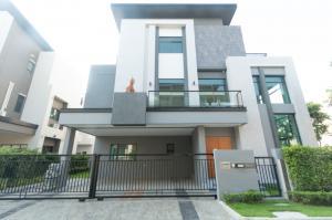 For RentHouseOnnut, Udomsuk : Single house for rent, The Gentry Sukhumvit 101, corner plot, near BTS Punnawithi, 4 bedrooms, 4 bathrooms