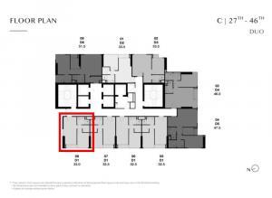 ขายดาวน์คอนโดสุขุมวิท อโศก ทองหล่อ : Park ทองหล่อ C3708 ห้อง Duo Space ตำแหน่งพิเศษมีหน้าต่างด้านข้าง เพียง 11.25 ล้านบาท