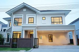 For SaleHouseNawamin, Ramindra : Luxury single house, English style, 2 floors