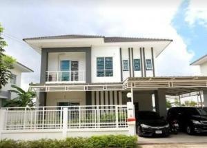For RentHouseRama5, Ratchapruek, Bangkruai : 2 storey detached house for rent, Lanceo Crib Pinklao-Wongwaen project Kanchanaphisek Road, Salaya Sub-district, Bang Kruai District, Nonthaburi Province