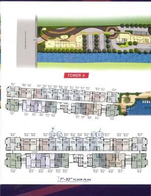 Sale DownCondoRamkhamhaeng, Hua Mak : Sell down quick !!! Supalai Vereda Ramkhamhaeng Building A, 24th floor, good view, east balcony, beautiful position, cheap Feng Shui principles (The owner sells by himself)