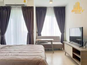 For RentCondoRatchadapisek, Huaikwang, Suttisan : Condo for rent Chapter One Eco Ratchada-Huay Kwang Studio room size 22.58 sq m. Building H, floor 20 price 9,000 baht