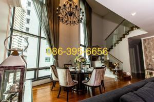 เช่าคอนโดสุขุมวิท อโศก ทองหล่อ : For Rent 3BR 189sq.m. 110K Fully Furnished High Floor 086-395-6656 Gunn